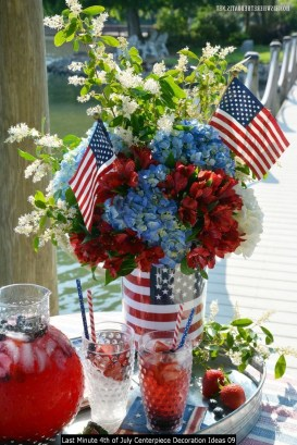 Last Minute 4th Of July Centerpiece Decoration Ideas 09