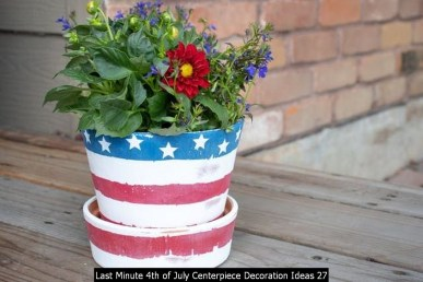 Last Minute 4th Of July Centerpiece Decoration Ideas 27