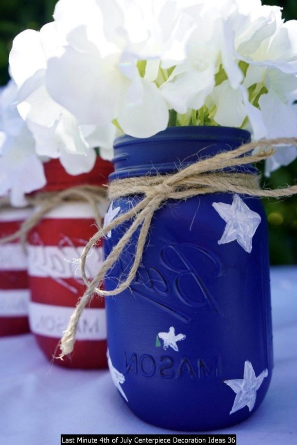 Last Minute 4th Of July Centerpiece Decoration Ideas 36