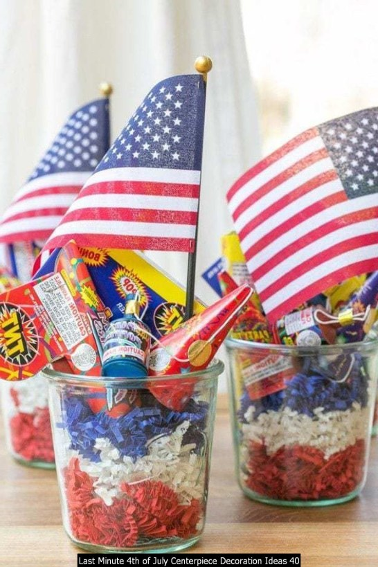 Last Minute 4th Of July Centerpiece Decoration Ideas 40