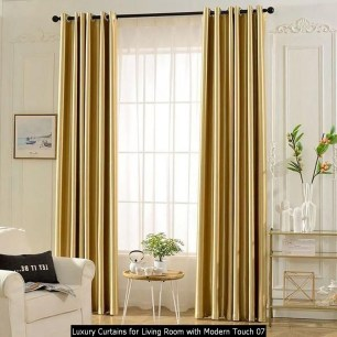 Luxury Curtains For Living Room With Modern Touch 07