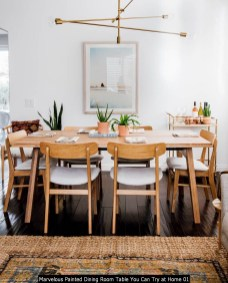 Marvelous Painted Dining Room Table You Can Try At Home 01