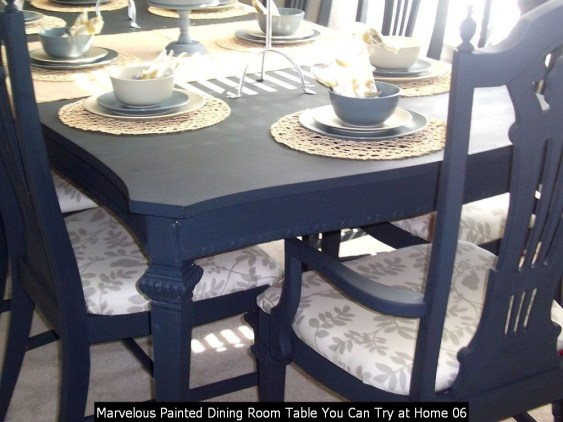 Marvelous Painted Dining Room Table You Can Try At Home 06