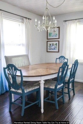 Marvelous Painted Dining Room Table You Can Try At Home 07