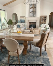Marvelous Painted Dining Room Table You Can Try At Home 12