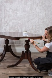 Marvelous Painted Dining Room Table You Can Try At Home 13