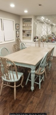 Marvelous Painted Dining Room Table You Can Try At Home 17