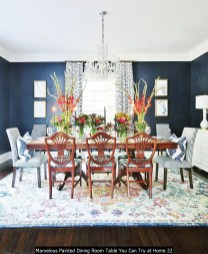 Marvelous Painted Dining Room Table You Can Try At Home 22