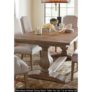 Marvelous Painted Dining Room Table You Can Try At Home 26