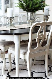 Marvelous Painted Dining Room Table You Can Try At Home 30
