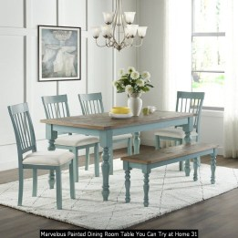 Marvelous Painted Dining Room Table You Can Try At Home 31