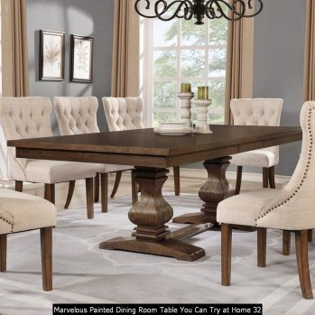 Marvelous Painted Dining Room Table You Can Try At Home 32