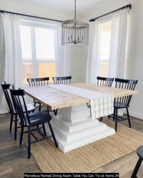 Marvelous Painted Dining Room Table You Can Try At Home 34