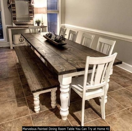 Marvelous Painted Dining Room Table You Can Try At Home 41