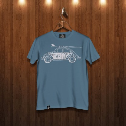 Classic Aircooled VW Beetle Surfer Gulf Blue
