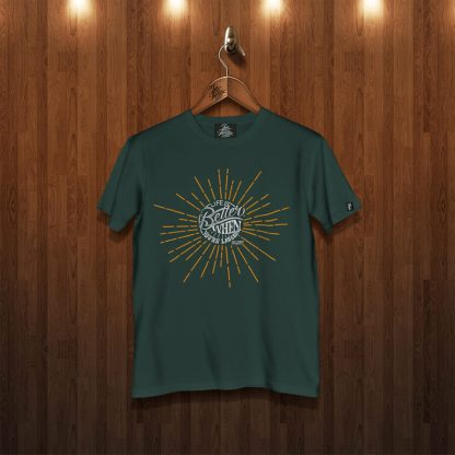 Life is better laughing forest green tshirt