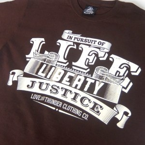 Life Liberty Justice T-Shirt Design