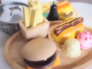 kiko ハンバーガーセット カスタネット 楽器 木のおもちゃ
