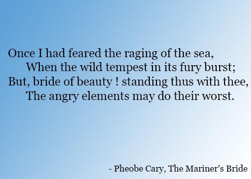 Pheobe Cary Poem