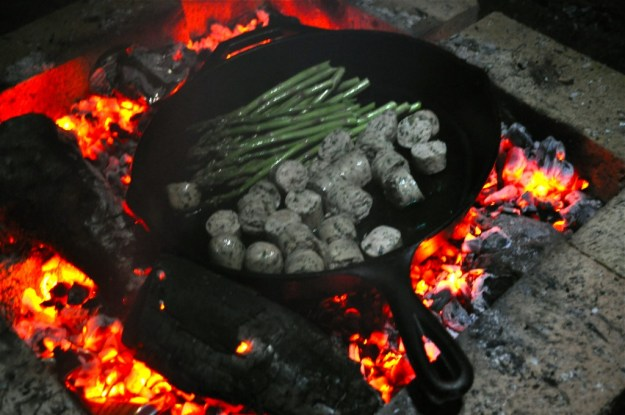 Cooking on Campfire Coals