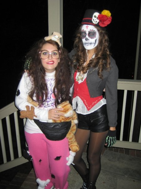 Cat Lady and Sugar Skull Costume