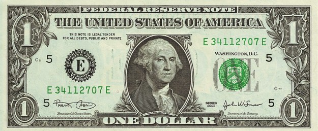Dollar photo c/o Wikimedia Commons.