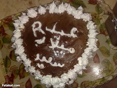 تورتة عيد ميلاد مكتوب عليها حرف R تورته جميله بحرف R لعيد