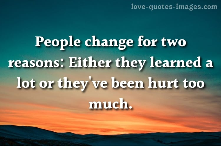 quotes on people changing