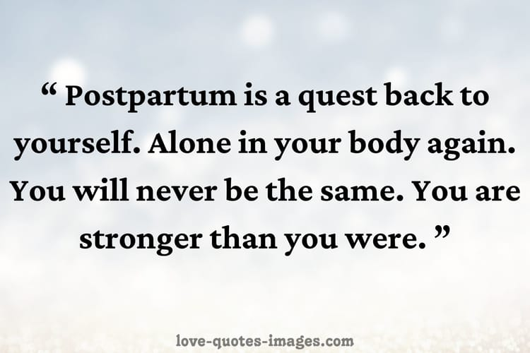 Postpartum Body Positive Quotes