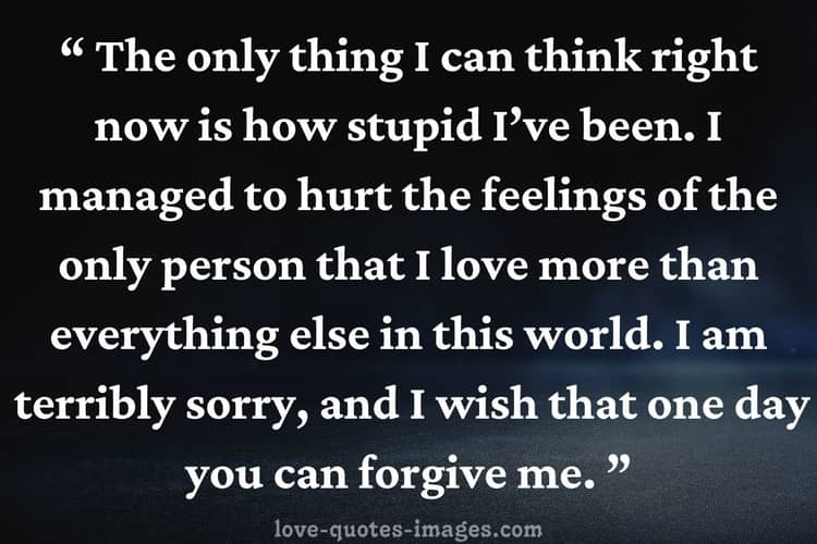 i m sorry quotes for her