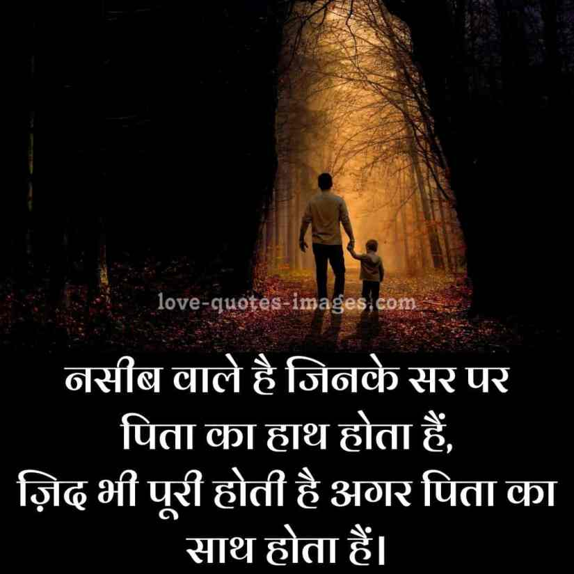 happy fathers day images with quotes in hindi