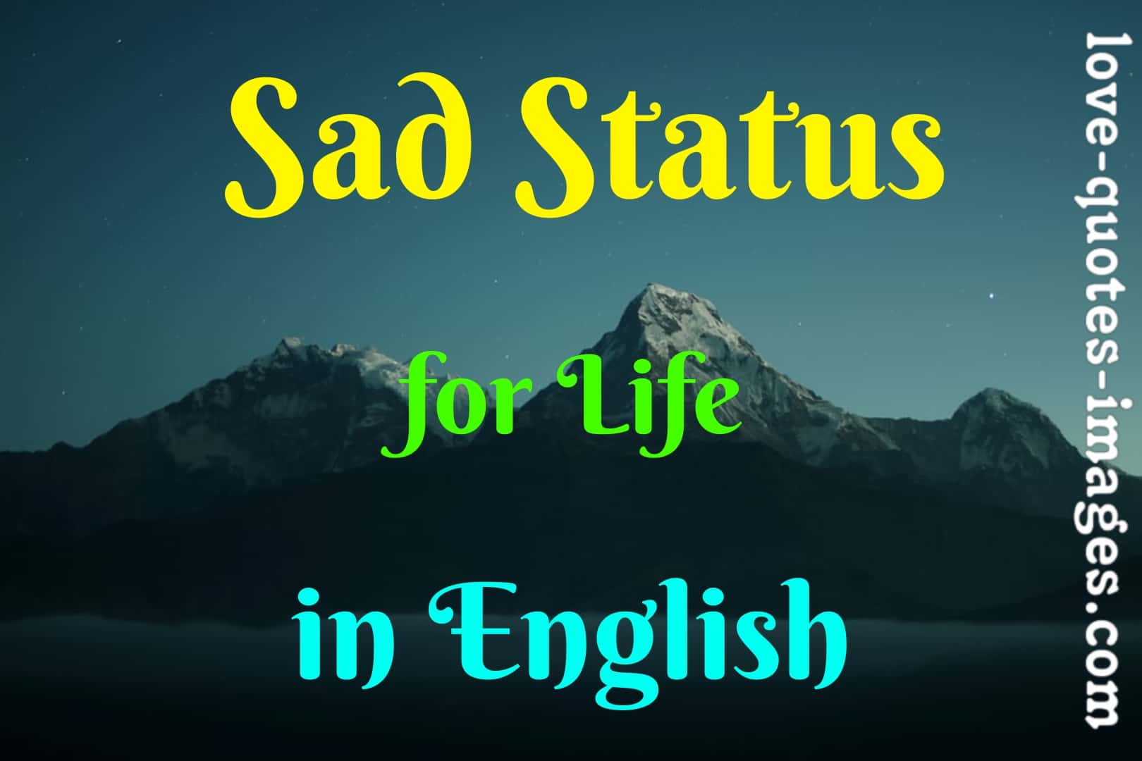 sad status in english for life