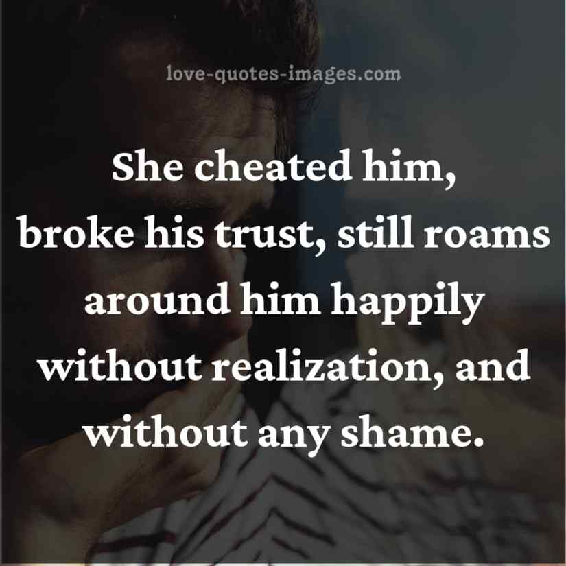 cheating quotesfor him