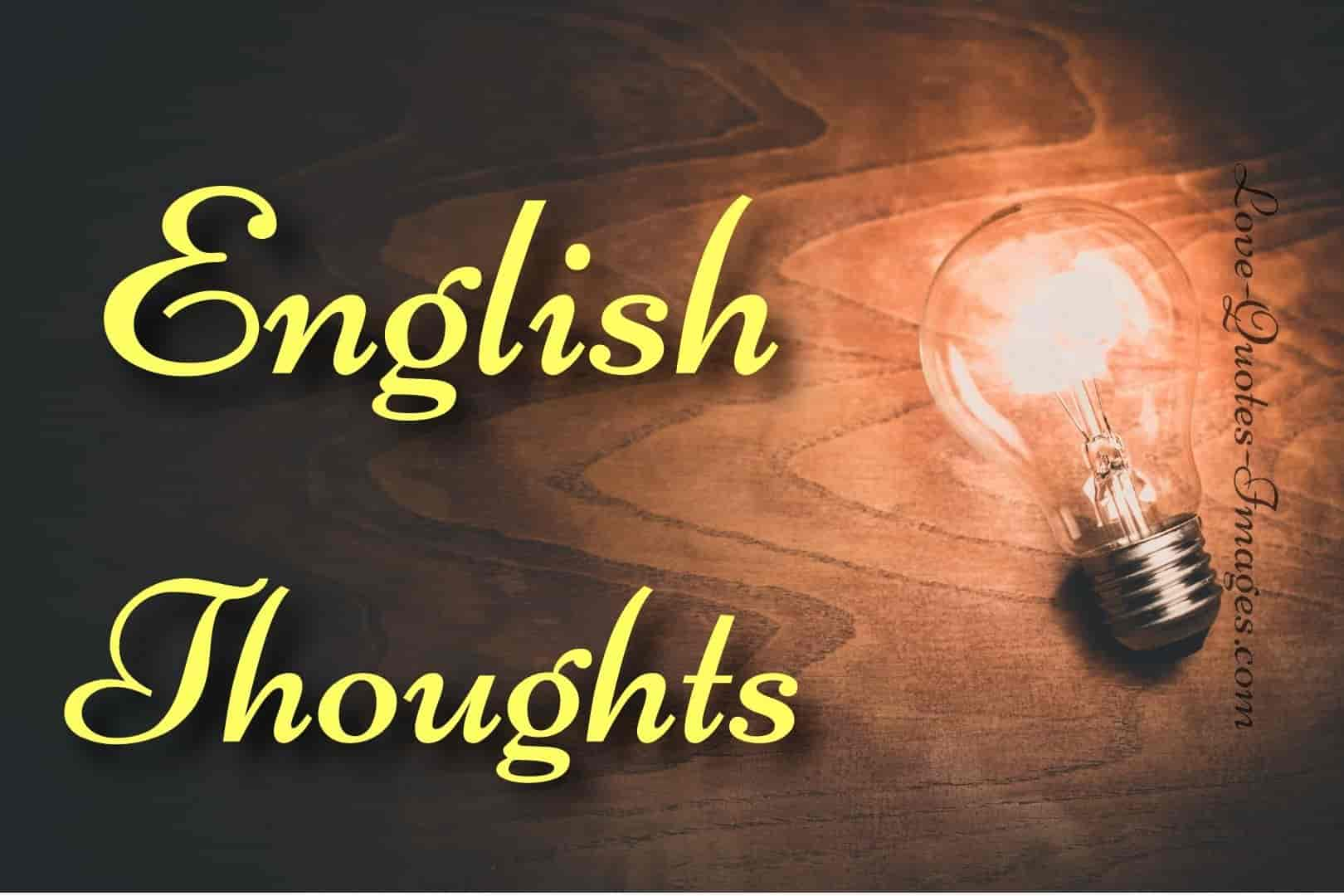 english thoughts