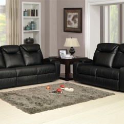 Lazy Boy Black Leather Reclining Sofa Younger Furniture Bed New Luxury Cinema 3 432 Bonded Recliner