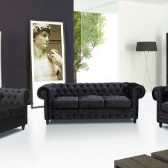 Chesterfield Sofa Black Velvet Cheap Comfortable Sectional Sofas New Camden Crushed Suite 3 2 1