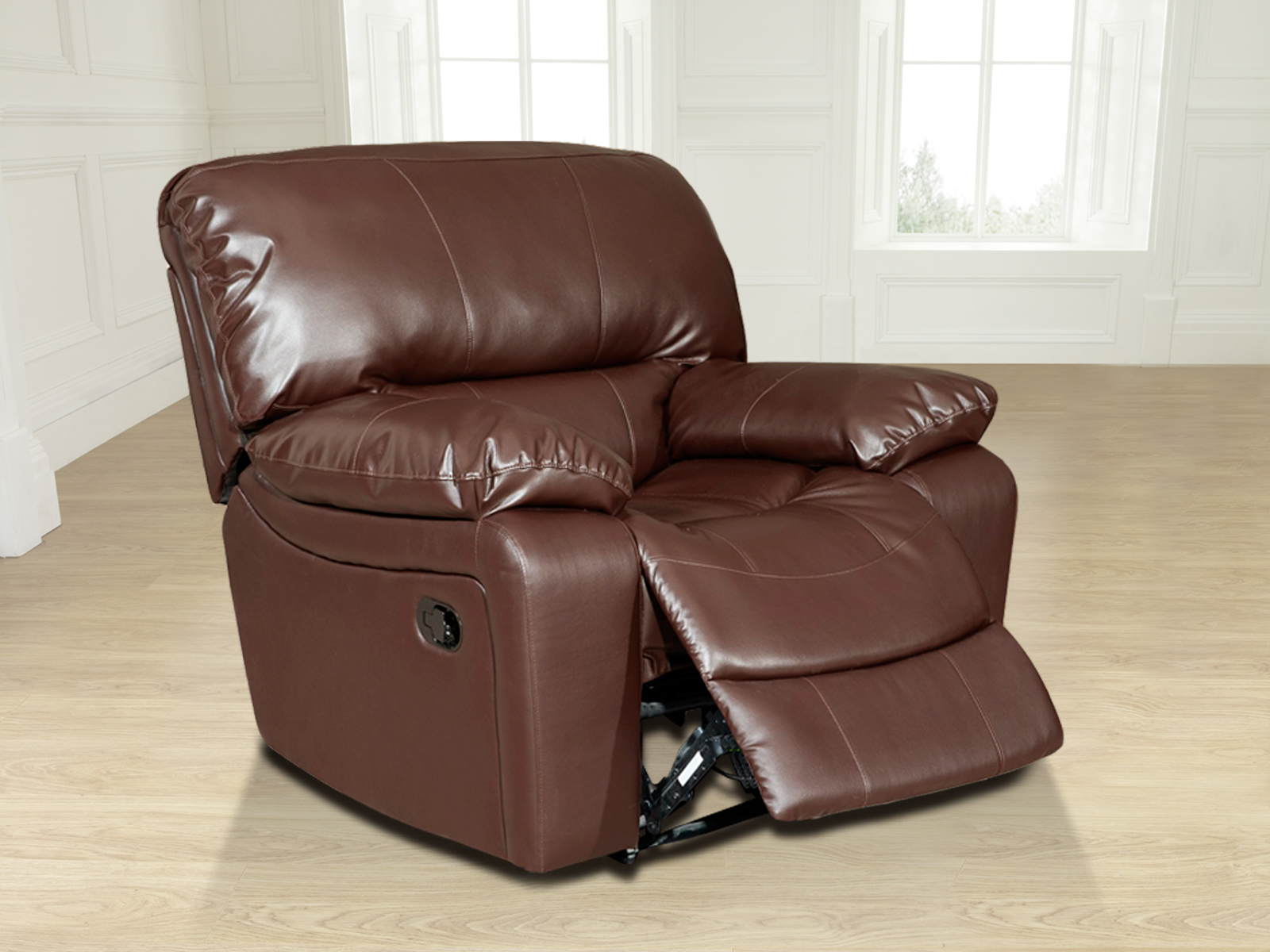black bonded leather chair what s a dip new valencia jumbo 1 seater recliner