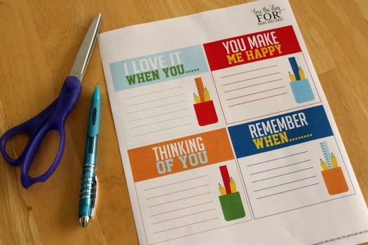 Free Printable Lunchbox Notes by Love The Day