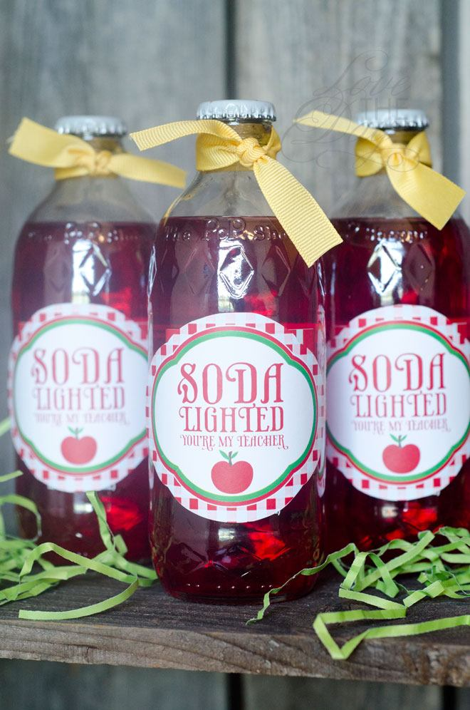 Soda-Lighted You're My Teacher FREE Printable Tags by Love The Day