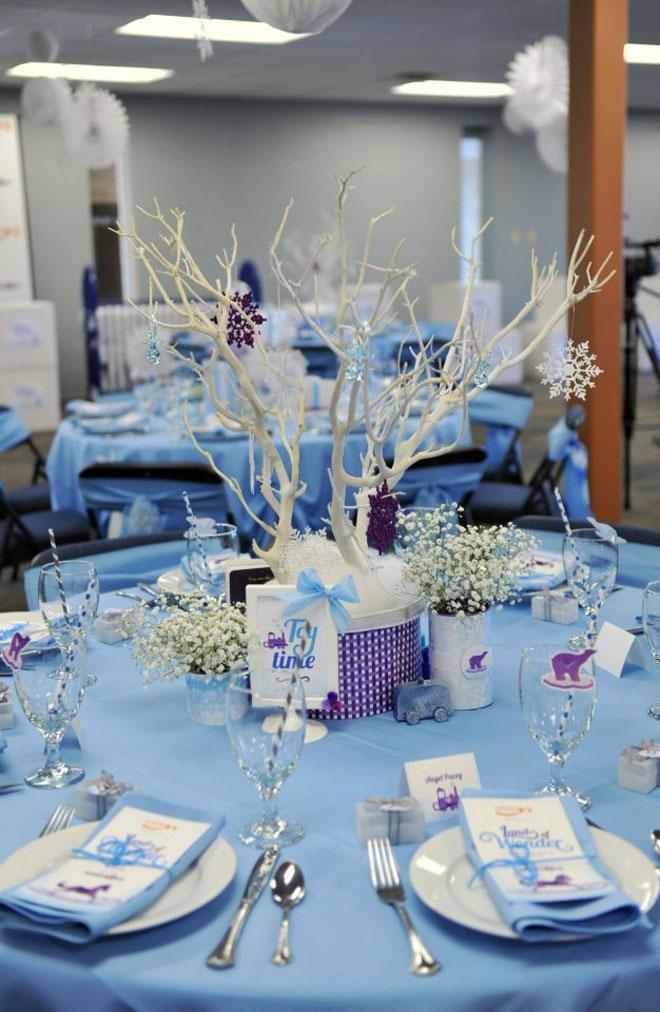 Diy winter wonderland baby shower decorations