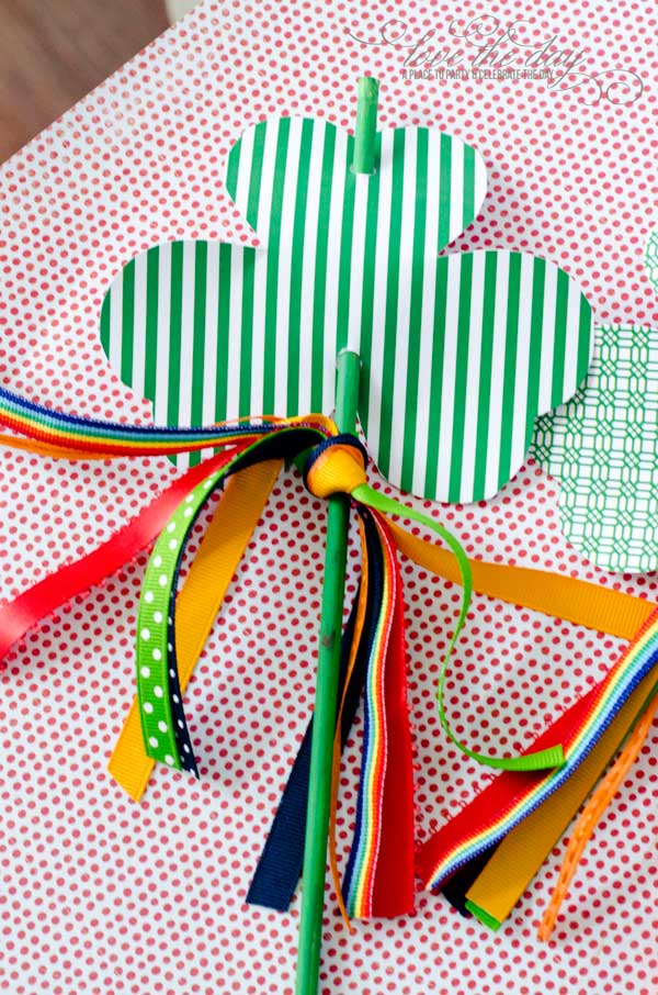 FREE Printable Shamrock Wands from Love The Day