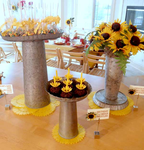 50th Birthday Sunflower Party Feature on Love The Day