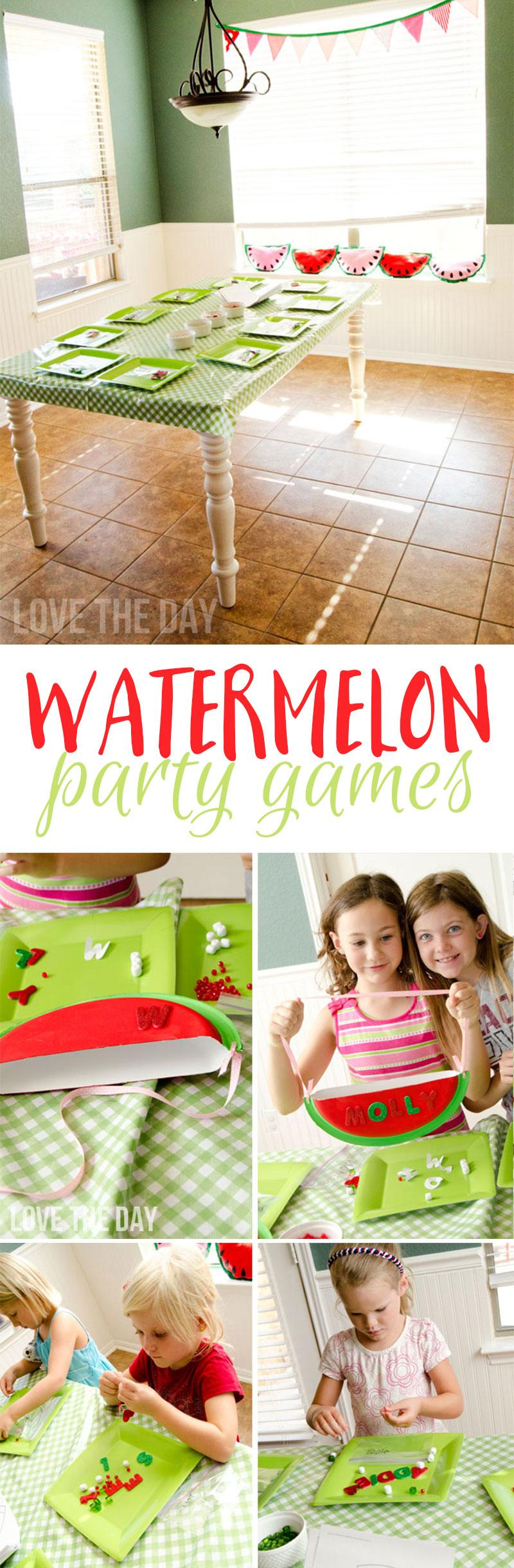 Watermelon Party Activities by Lindi Haws of Love The Day