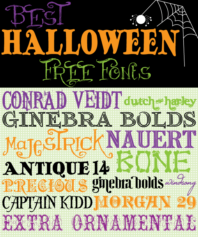 Best Halloween Free Fonts