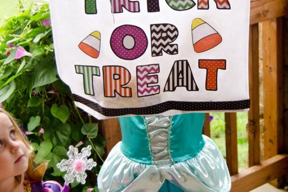 No Sew MODGE PODGE Trick or Treat Bag by Love The Day