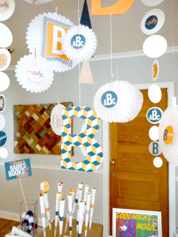 Babies, Books & Brunch Shower with printable by Love The Day