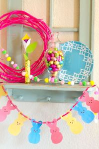 FREE Printable Peeps Garland by Love The Day