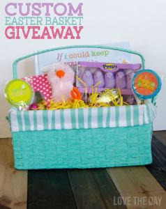 Custom Easter Basket Giveaway on Love The Day
