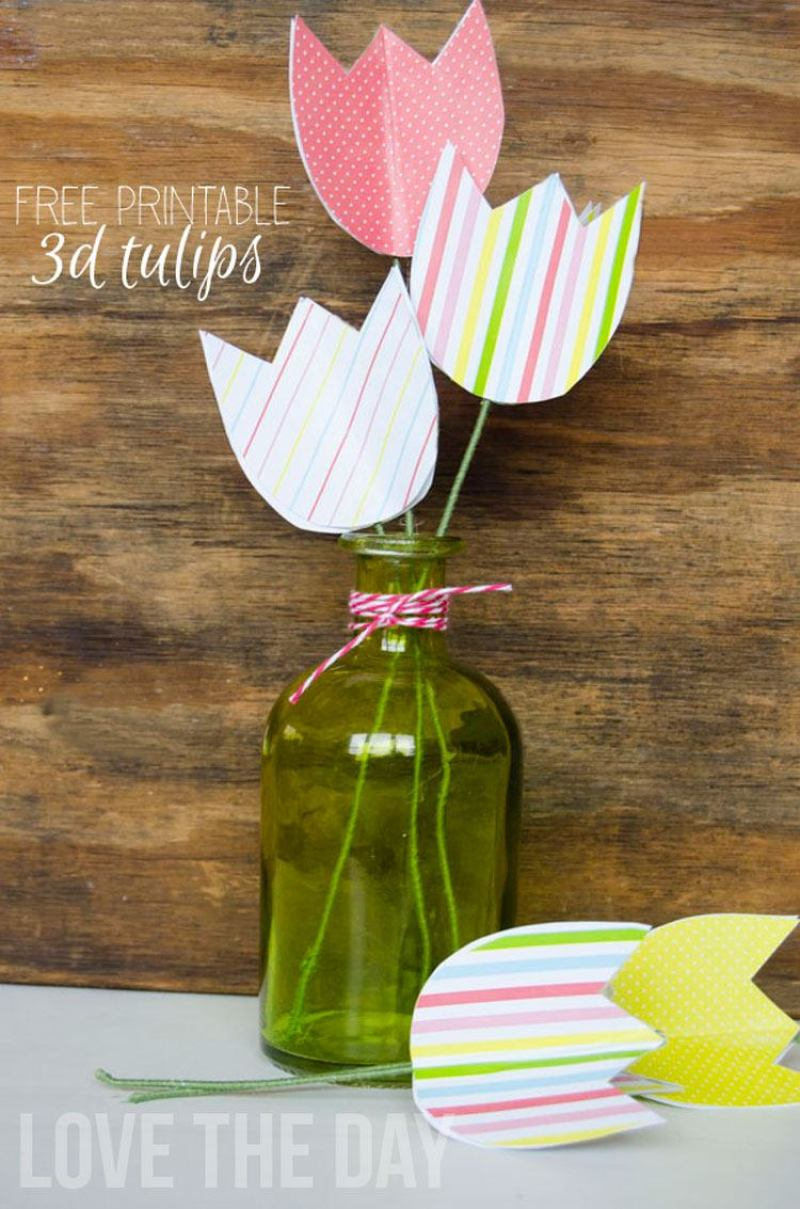FREE Printable Tulips by Love The Day
