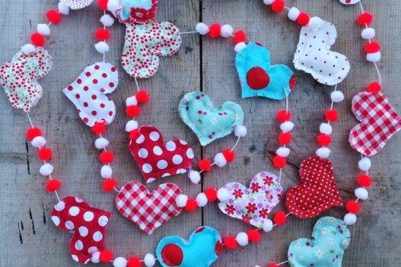 Heart & Pom Pom Garland Tutorial by Love The Day